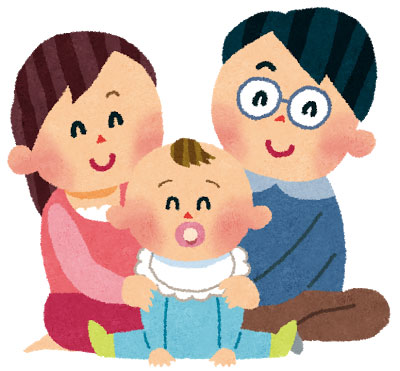 free-illustration-akachan-family